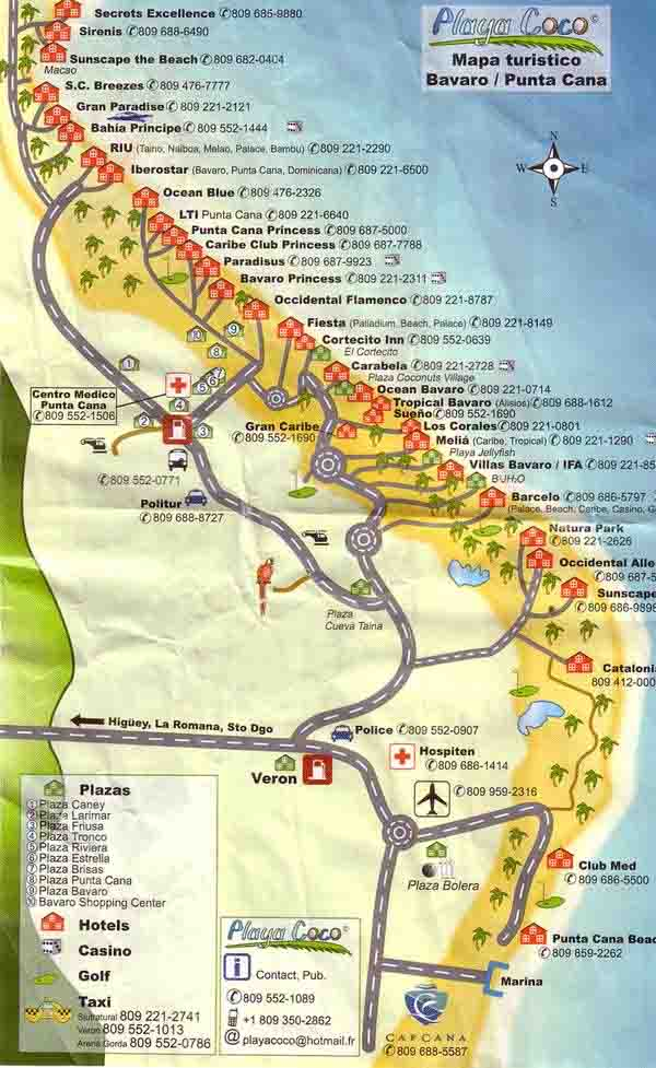 map of dominican republic punta cana. Dominican Republic 的功课